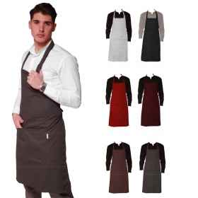 Apron paravanti flap kitchen man-various colors pocket adjustable restaurant